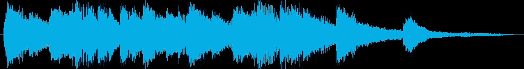 きれいな旋律のピアノソロジングルの再生済みの波形