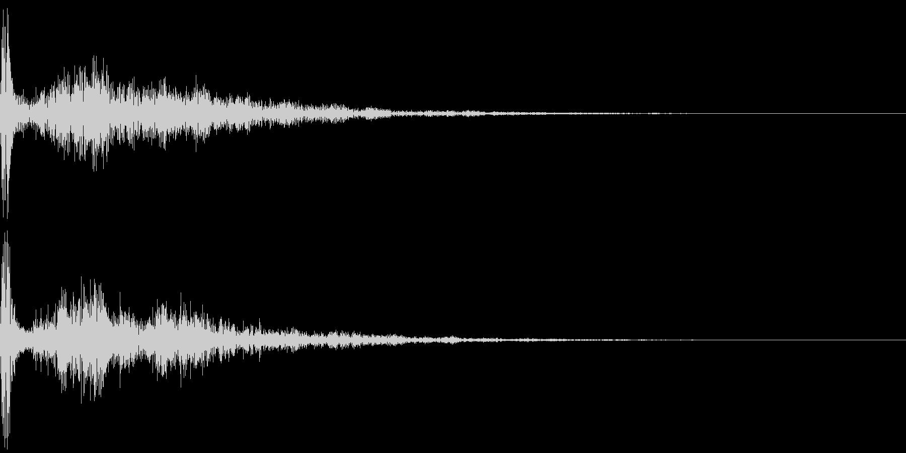カジュアルな破裂音「ポーン!」の未再生の波形