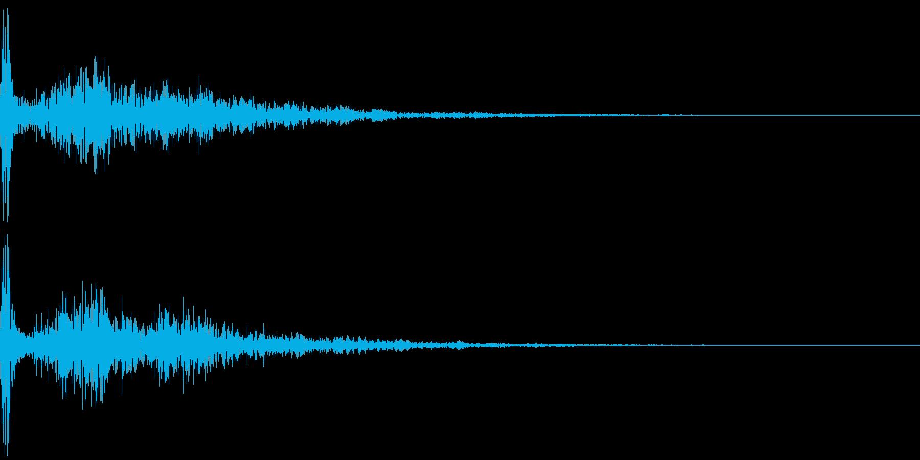 カジュアルな破裂音「ポーン!」の再生済みの波形