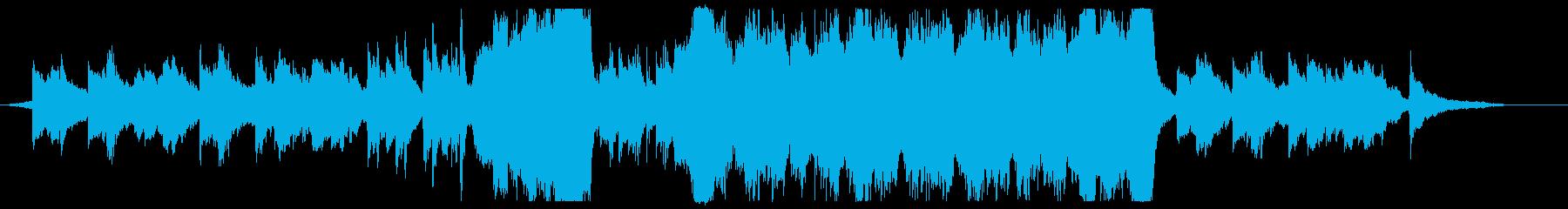 ファンタジーRPG風テーマ曲の再生済みの波形