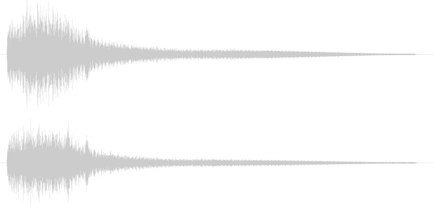 ブラックな音 波紋のような音 ピアノ音の未再生の波形