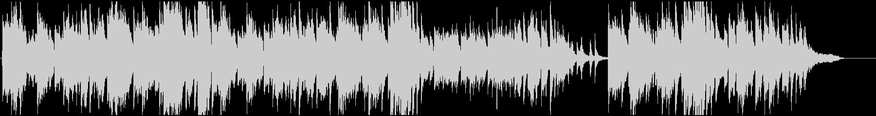 ピアノソロ、切ないの未再生の波形
