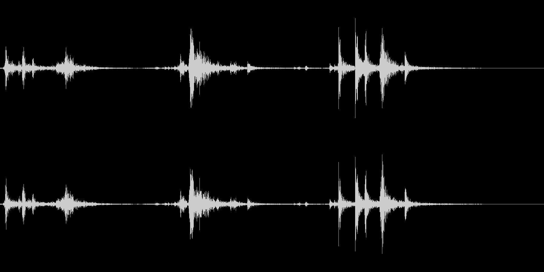 【生録音】パッケージ 開封音 11の未再生の波形