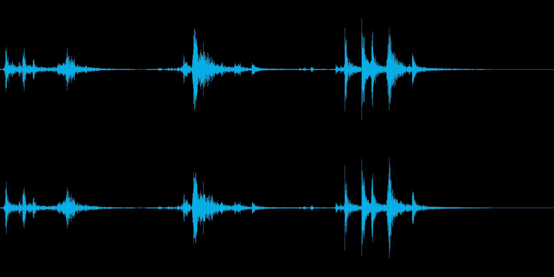 【生録音】パッケージ 開封音 11の再生済みの波形