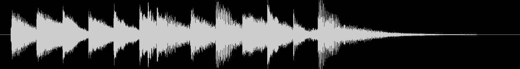 ピアノによる明るくポジティブなジングルの未再生の波形