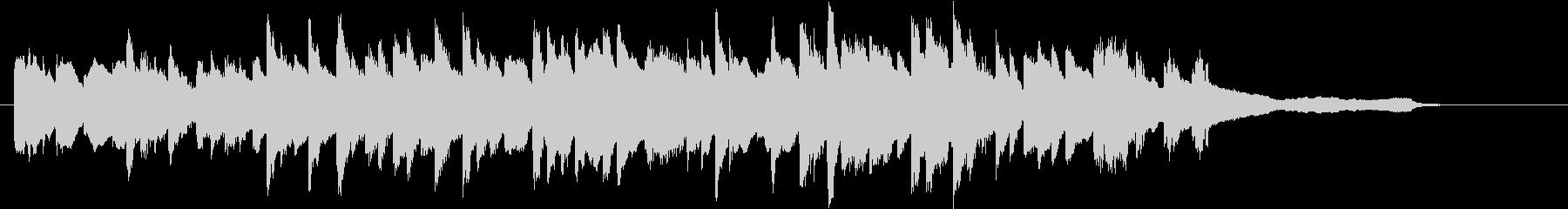 オープニング始まりのピアノジングル30秒の未再生の波形