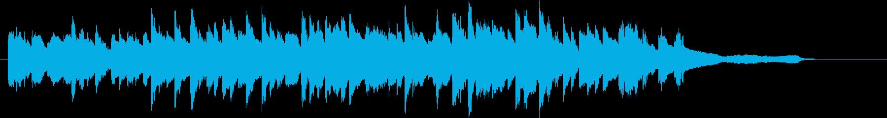 オープニング始まりのピアノジングル30秒の再生済みの波形