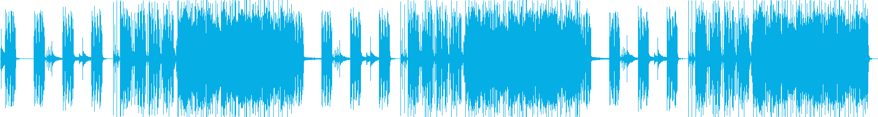 緊迫感のあるメタル劇伴の再生済みの波形