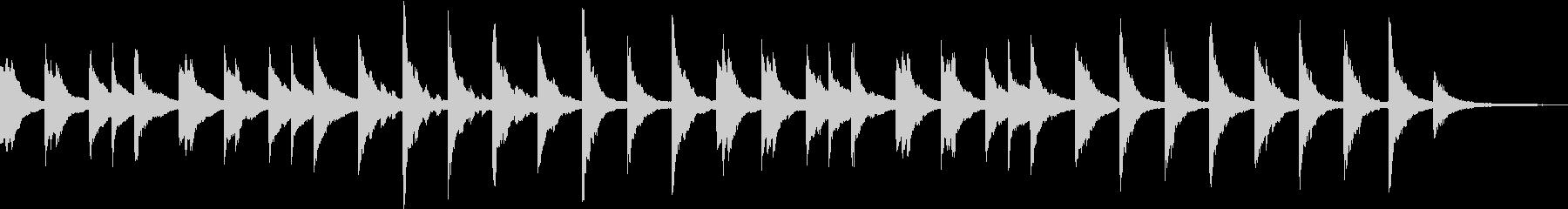 アンビエント寄りのピアノソロの未再生の波形