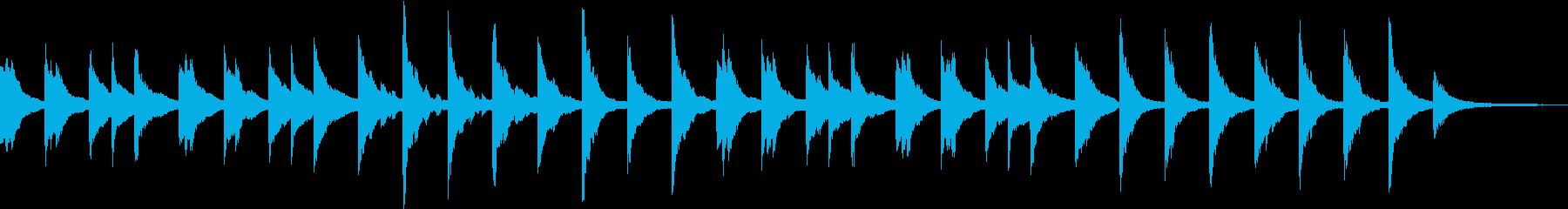アンビエント寄りのピアノソロの再生済みの波形