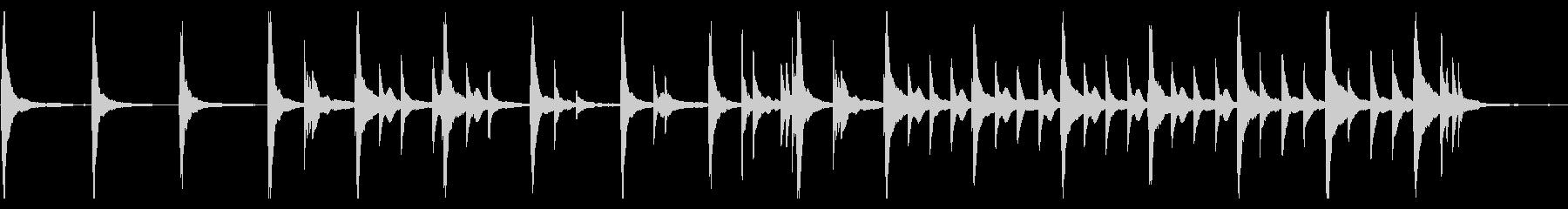 シンプルで静かなピアノアンビエントの未再生の波形