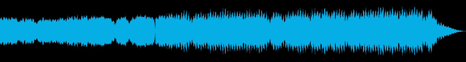 地下室をイメージした不気味な曲の再生済みの波形