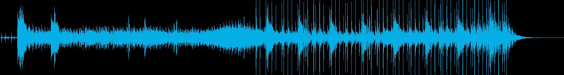 惑星に到着したインパクトのイメージの再生済みの波形