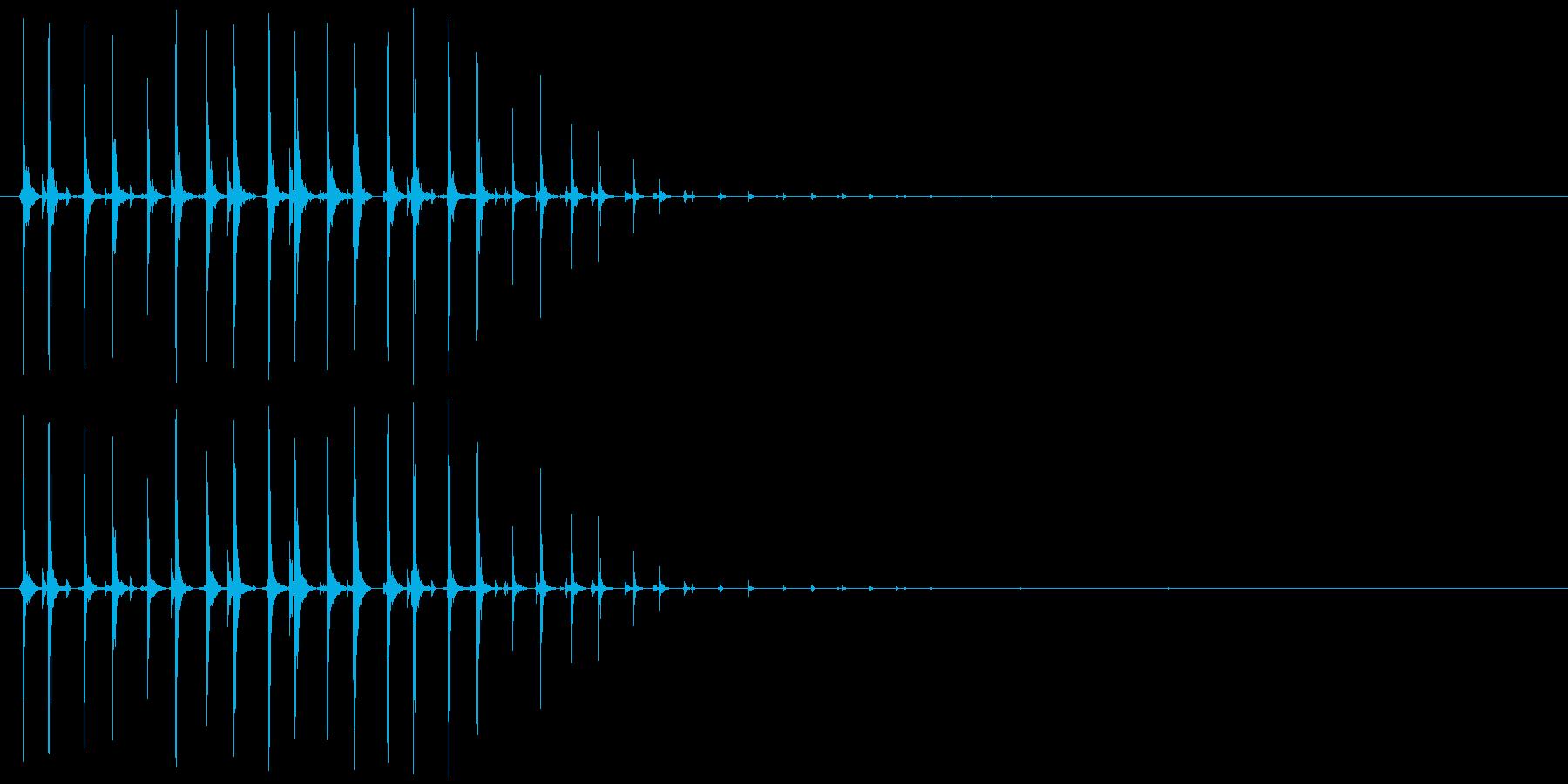 虫、モンスター等(動く鳴く)キチチチ…の再生済みの波形
