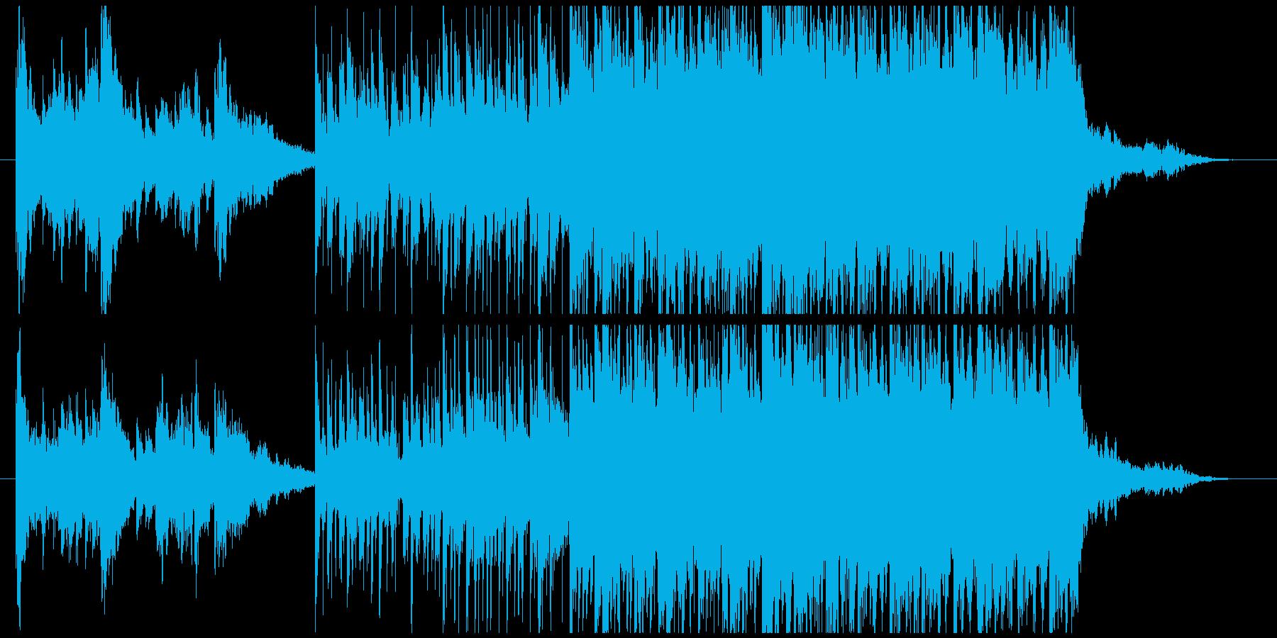 中東の楽器を使ったエキゾチックな音楽の再生済みの波形