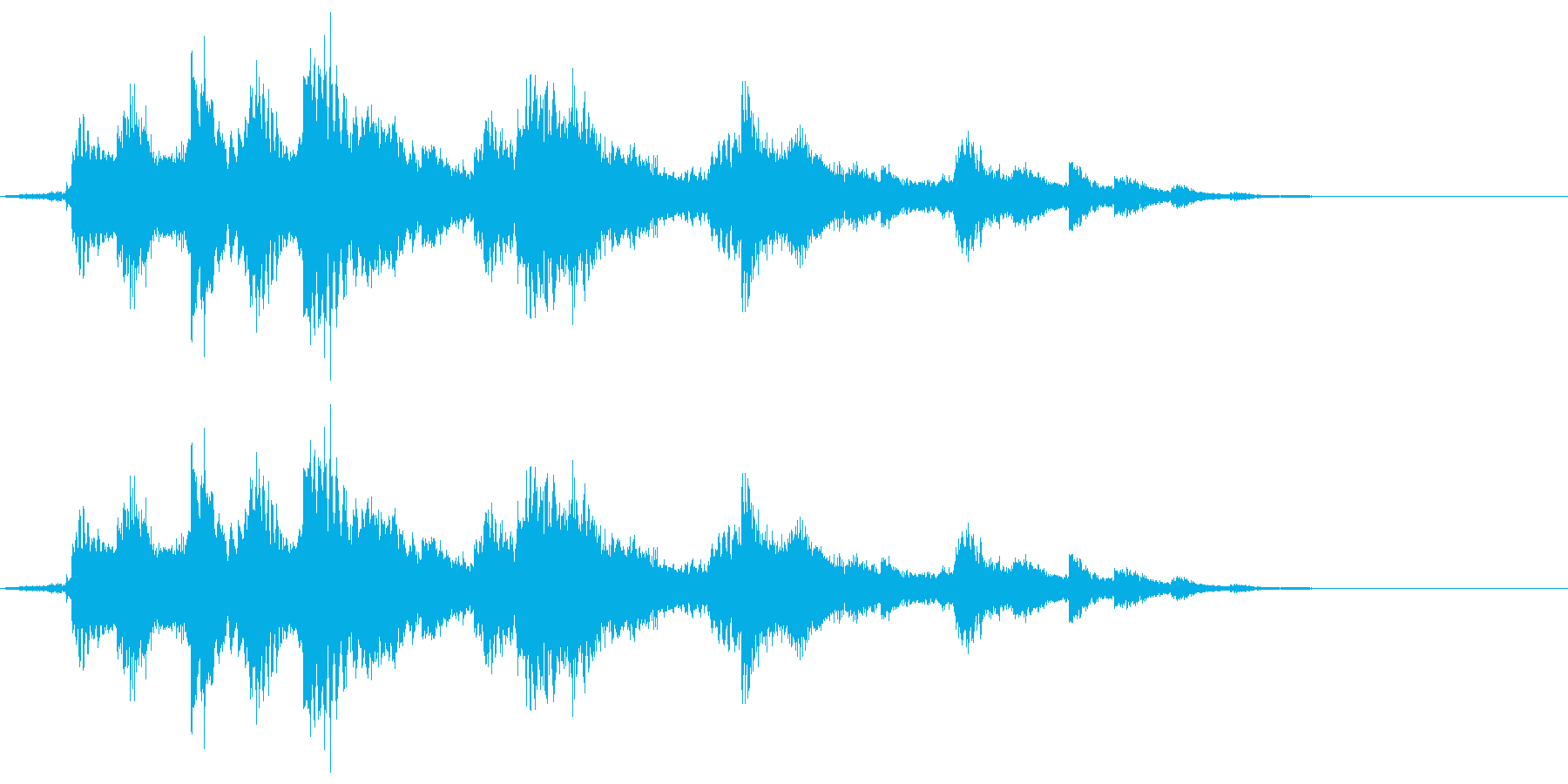 キラキラ_ベルの音の再生済みの波形