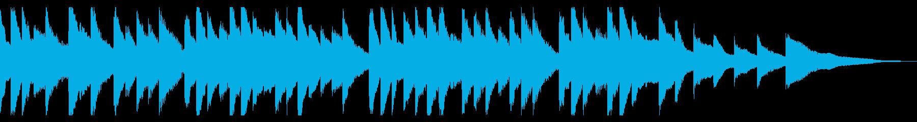 桜をイメージした切ないピアノのジングルの再生済みの波形