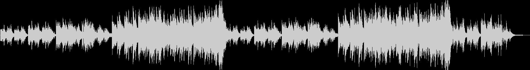感動的なピアノ曲  ソフトverの未再生の波形