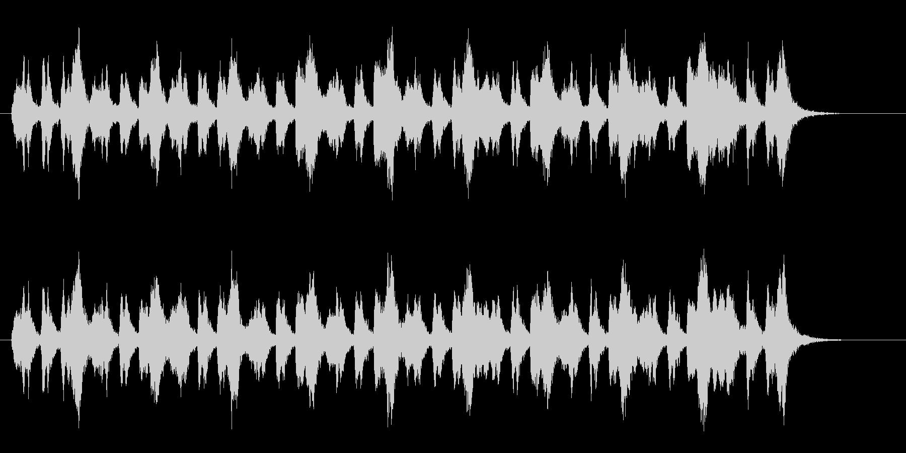 浮遊感のあるアナログ・シンセサウンドの未再生の波形
