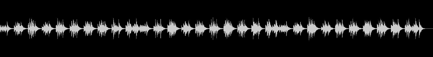 落ち着く安らぎ音楽の未再生の波形