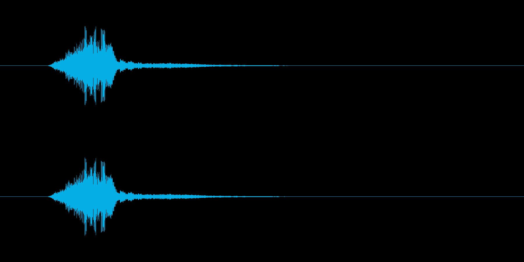 シャキン 剣を鞘から抜く短い音 金属同…の再生済みの波形