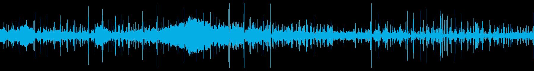 【生音】 足音_鈴虫_車_ナイロン_02の再生済みの波形