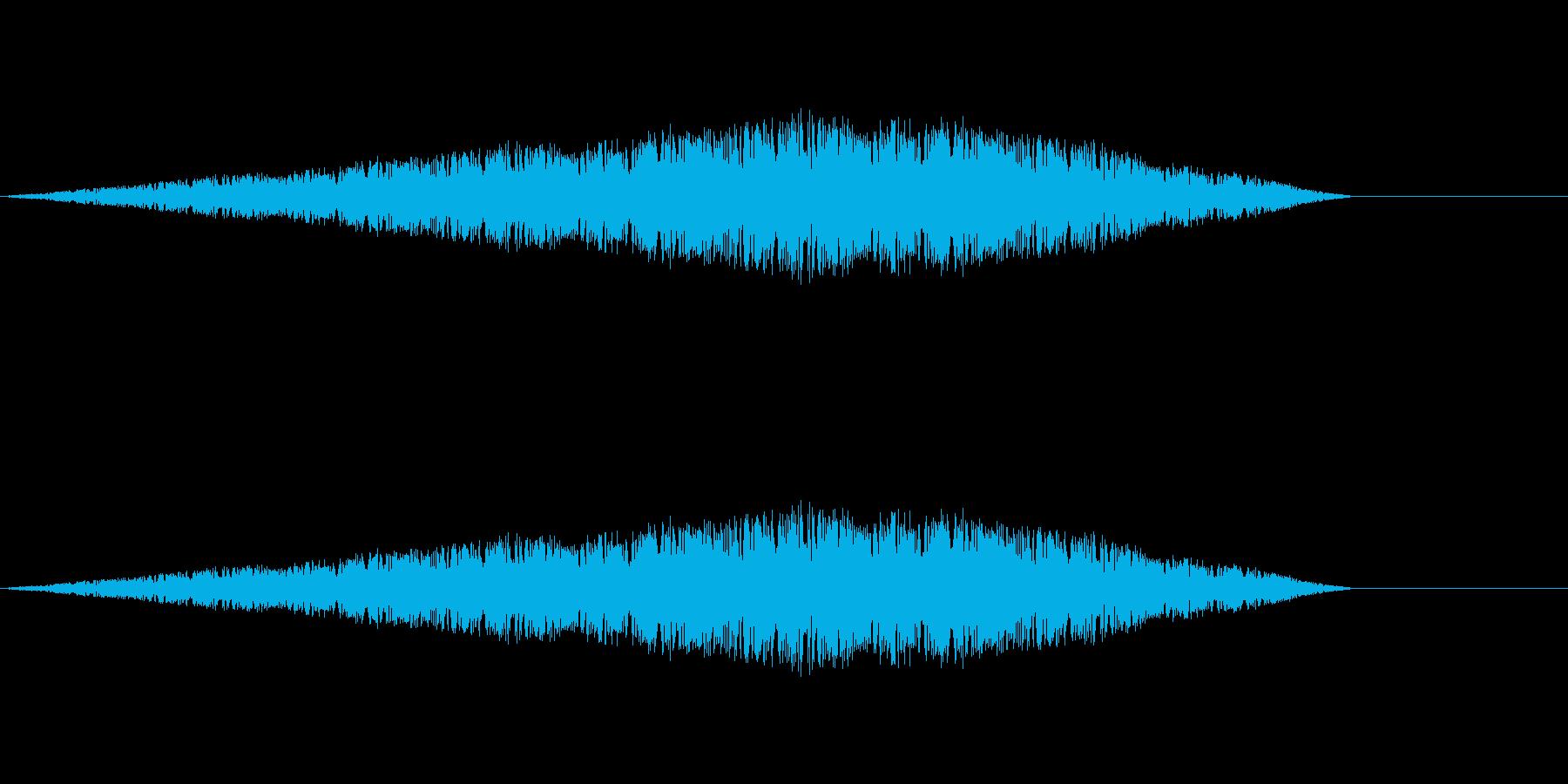 空中でふわふわ浮いている音 混乱状態にもの再生済みの波形