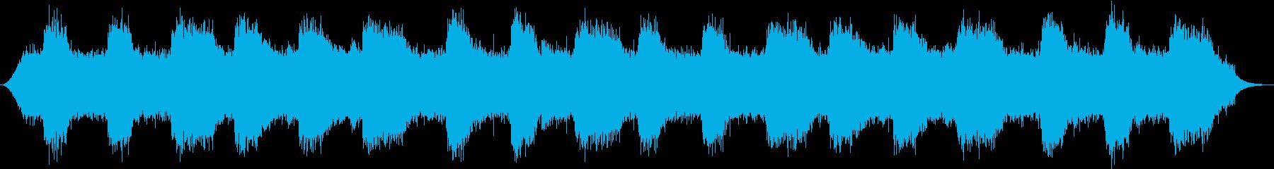 水音に寄り添うように流れるゆったり音楽の再生済みの波形