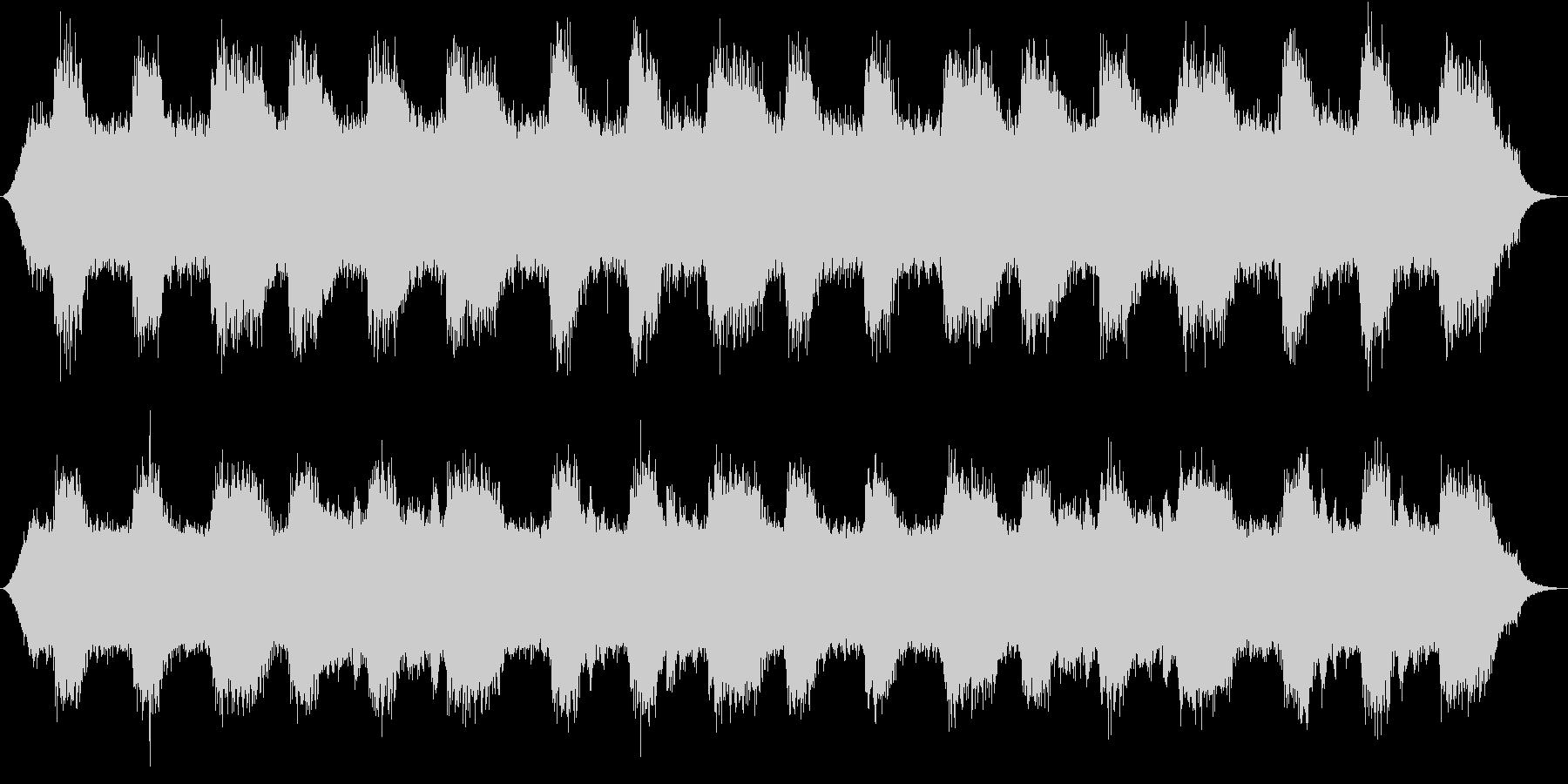 水音に寄り添うように流れるゆったり音楽の未再生の波形
