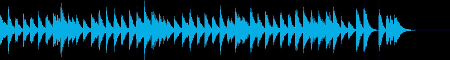 パレードっぽい行進曲風ピアノジングルの再生済みの波形