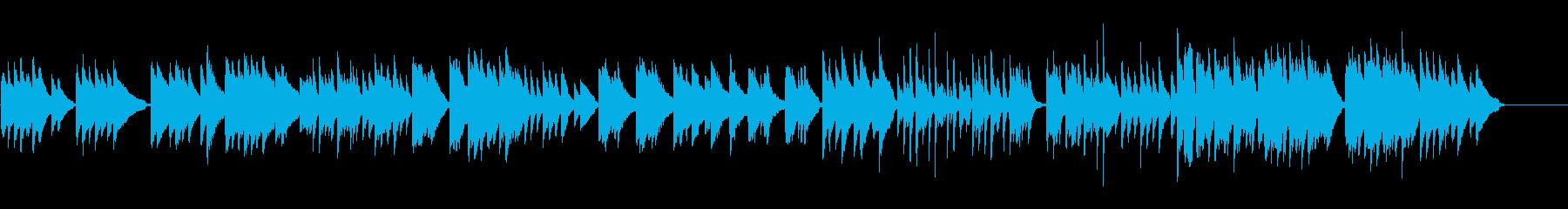 メロディアスで感傷的な3拍子のピアノ曲の再生済みの波形