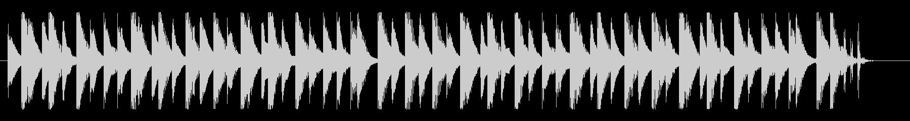 ハッピー&クリーンなマリンバメロディの未再生の波形