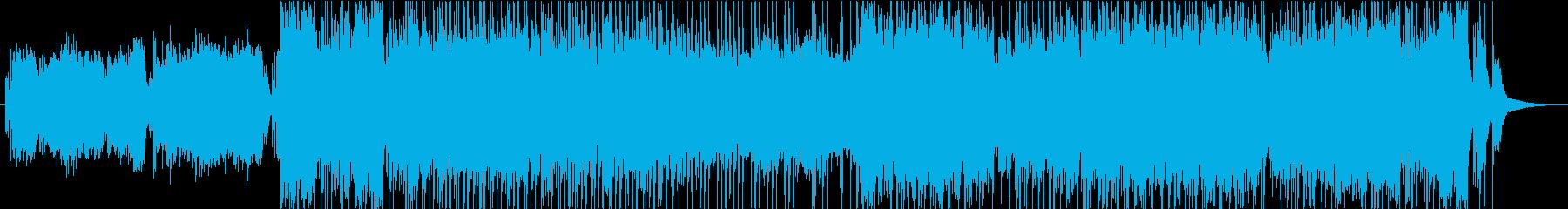 様々な民族楽器を混合したシルクロード曲の再生済みの波形
