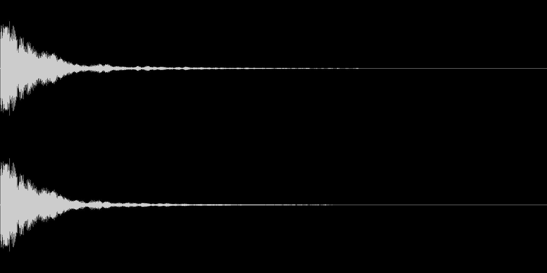 カウベル_単発(カン)の未再生の波形