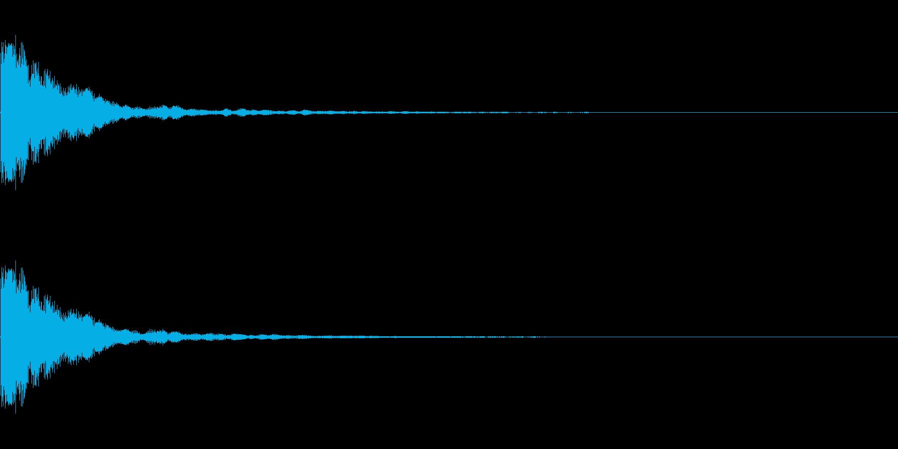 カウベル_単発(カン)の再生済みの波形