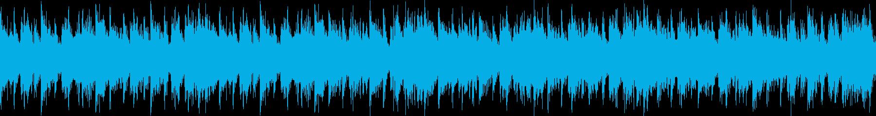 急き立てるシリアスなシンセとアコギの曲の再生済みの波形