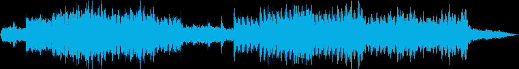 森の中の神秘的な遺跡のテクスチャー音楽の再生済みの波形