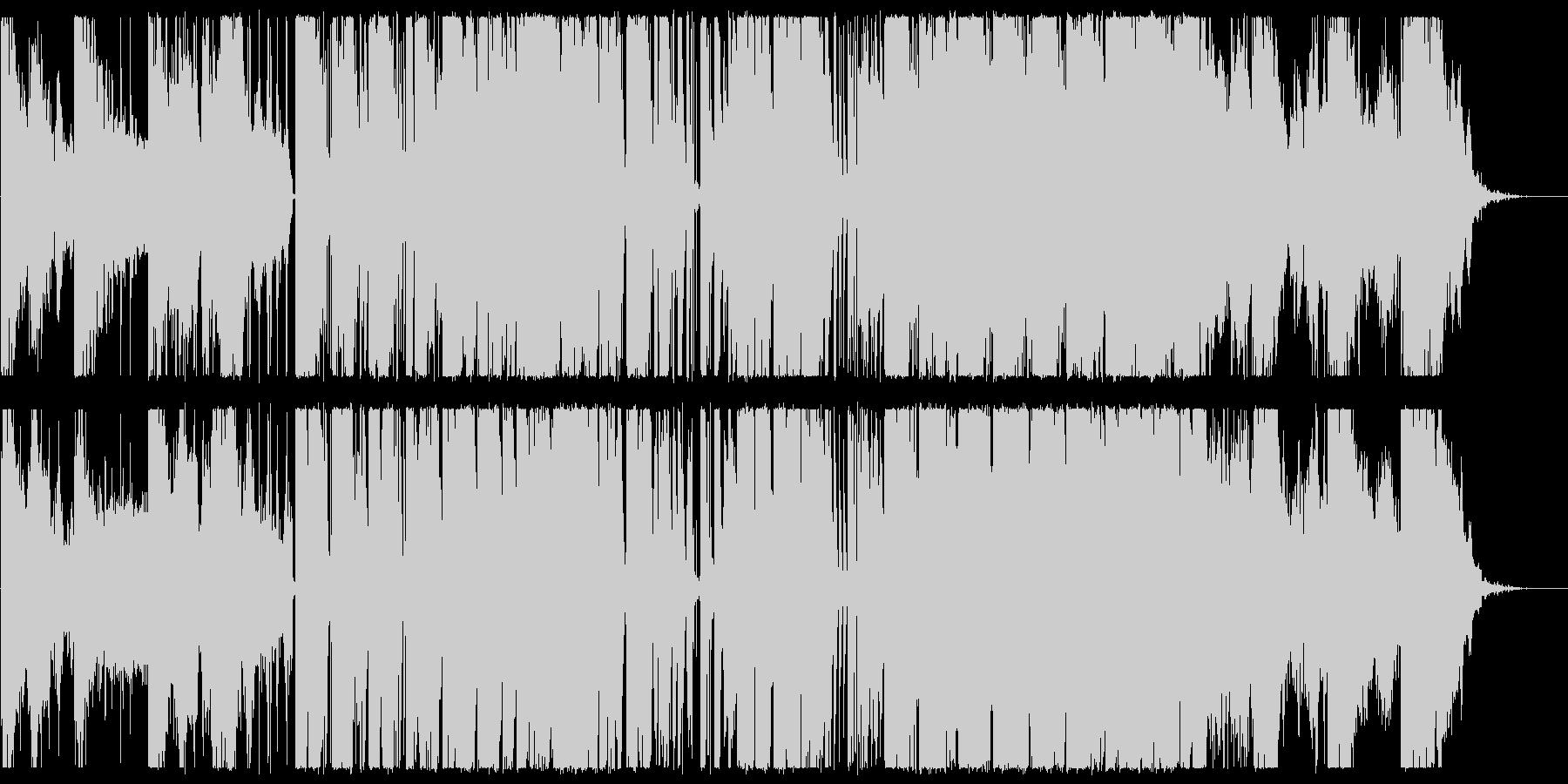 少しカチッとしたエレクトロニカの未再生の波形