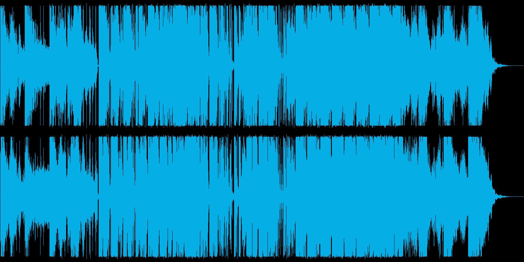 少しカチッとしたエレクトロニカの再生済みの波形