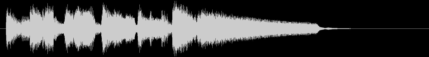 ボサノバのアイキャッチ、サックス生演奏の未再生の波形