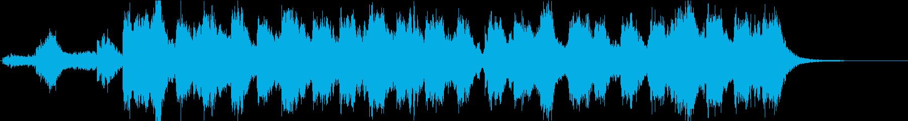 SFX映画に出てきそうな暗黒系BGMの再生済みの波形