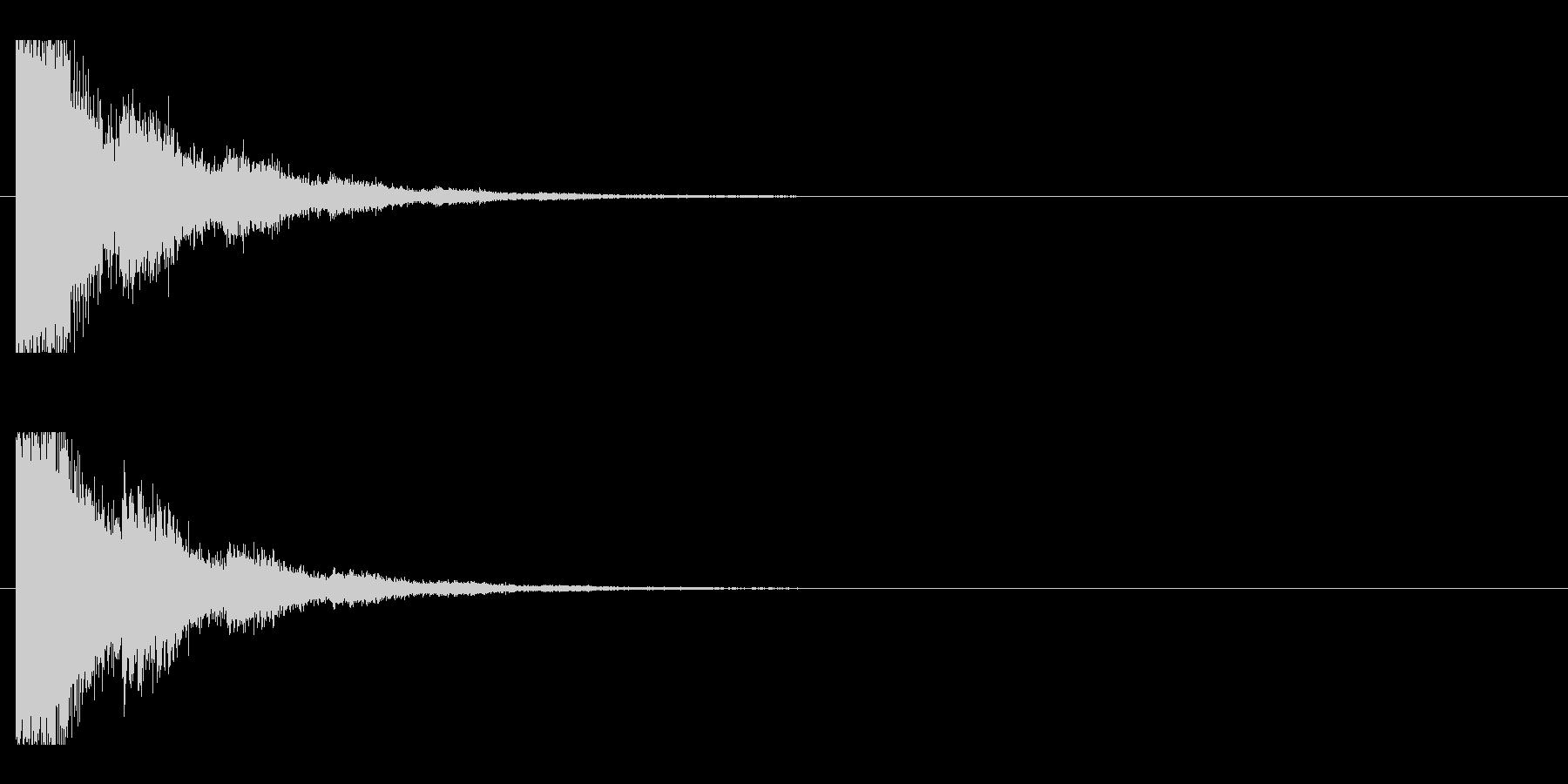 レーザー音-80-2の未再生の波形