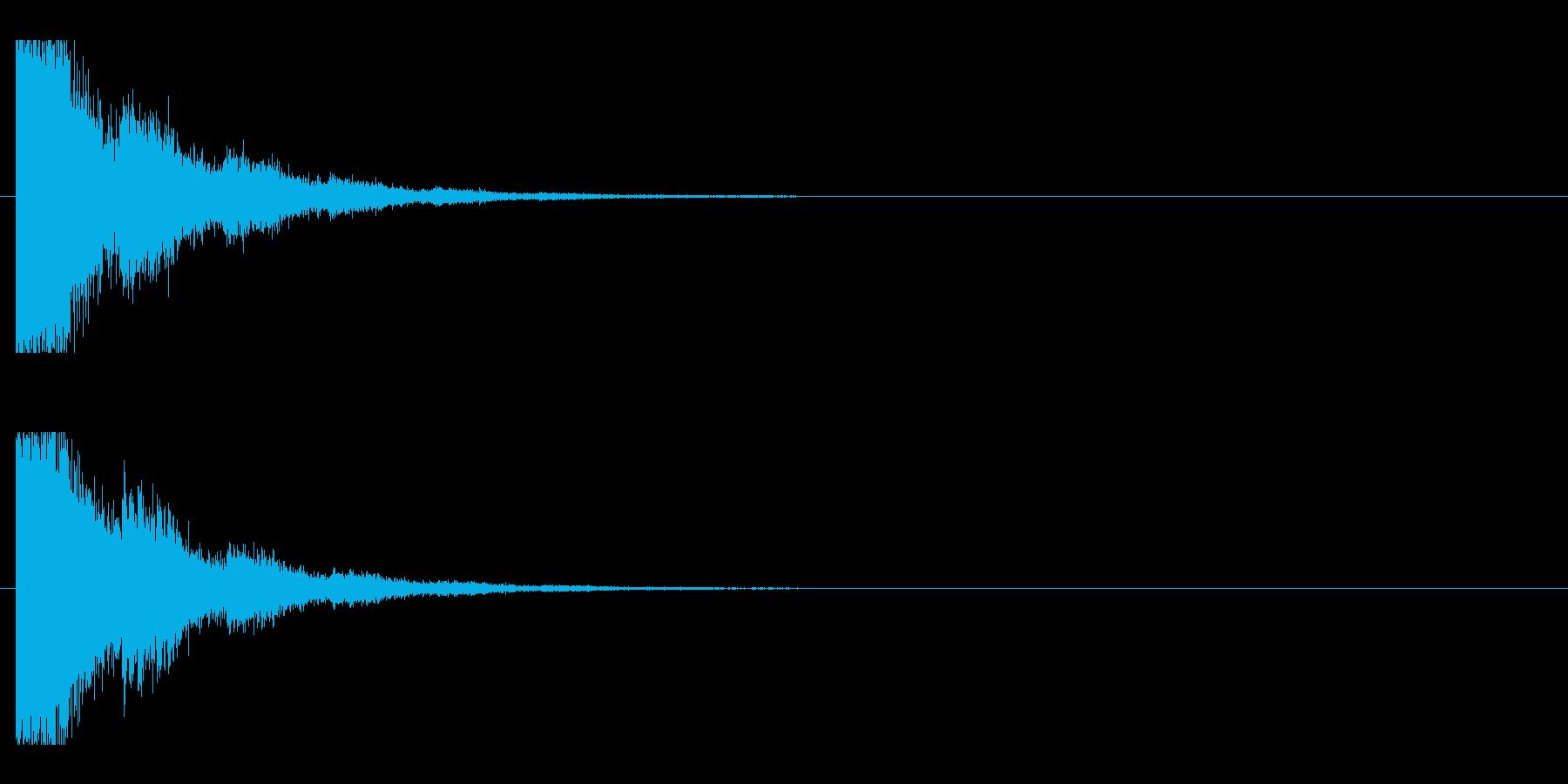 レーザー音-80-2の再生済みの波形