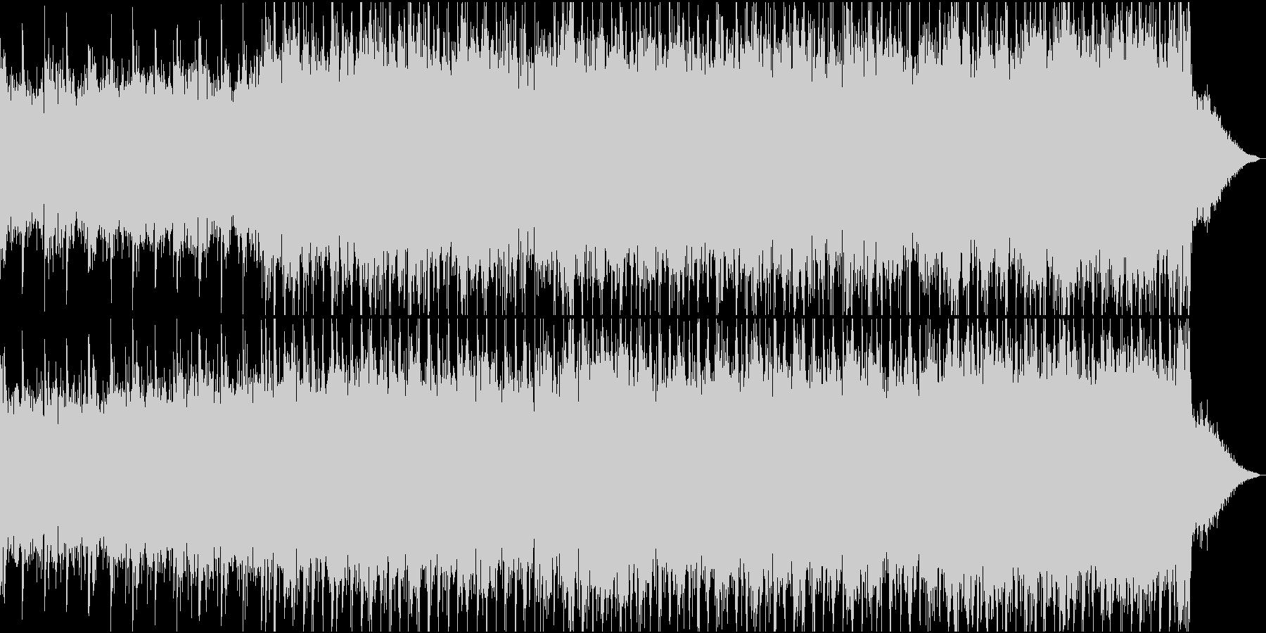 和風幻想曲で静かに始まり情熱的な曲への未再生の波形