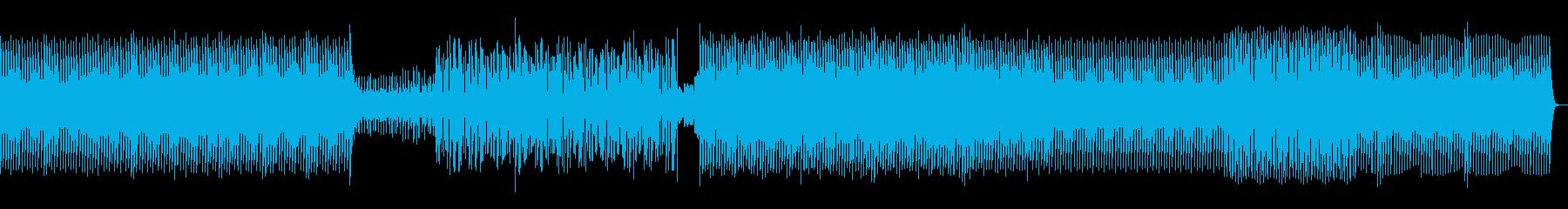 ミニマルで緊張感あるテクノの再生済みの波形