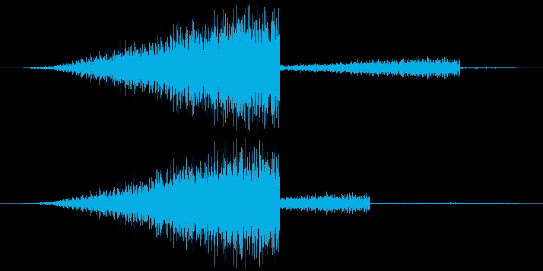 パワーアップ・レベルアップ・魔法の再生済みの波形