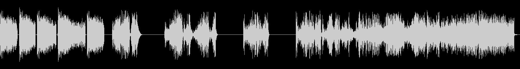ホイッピング静的スワイプ5の未再生の波形