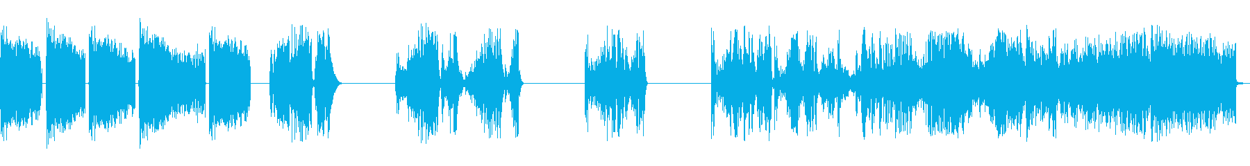 ホイッピング静的スワイプ5の再生済みの波形