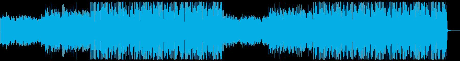 晴々とした明るいドラムンベースの再生済みの波形