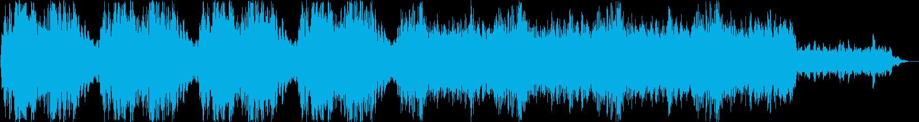 ファンタジーなシンセサイザー曲の再生済みの波形